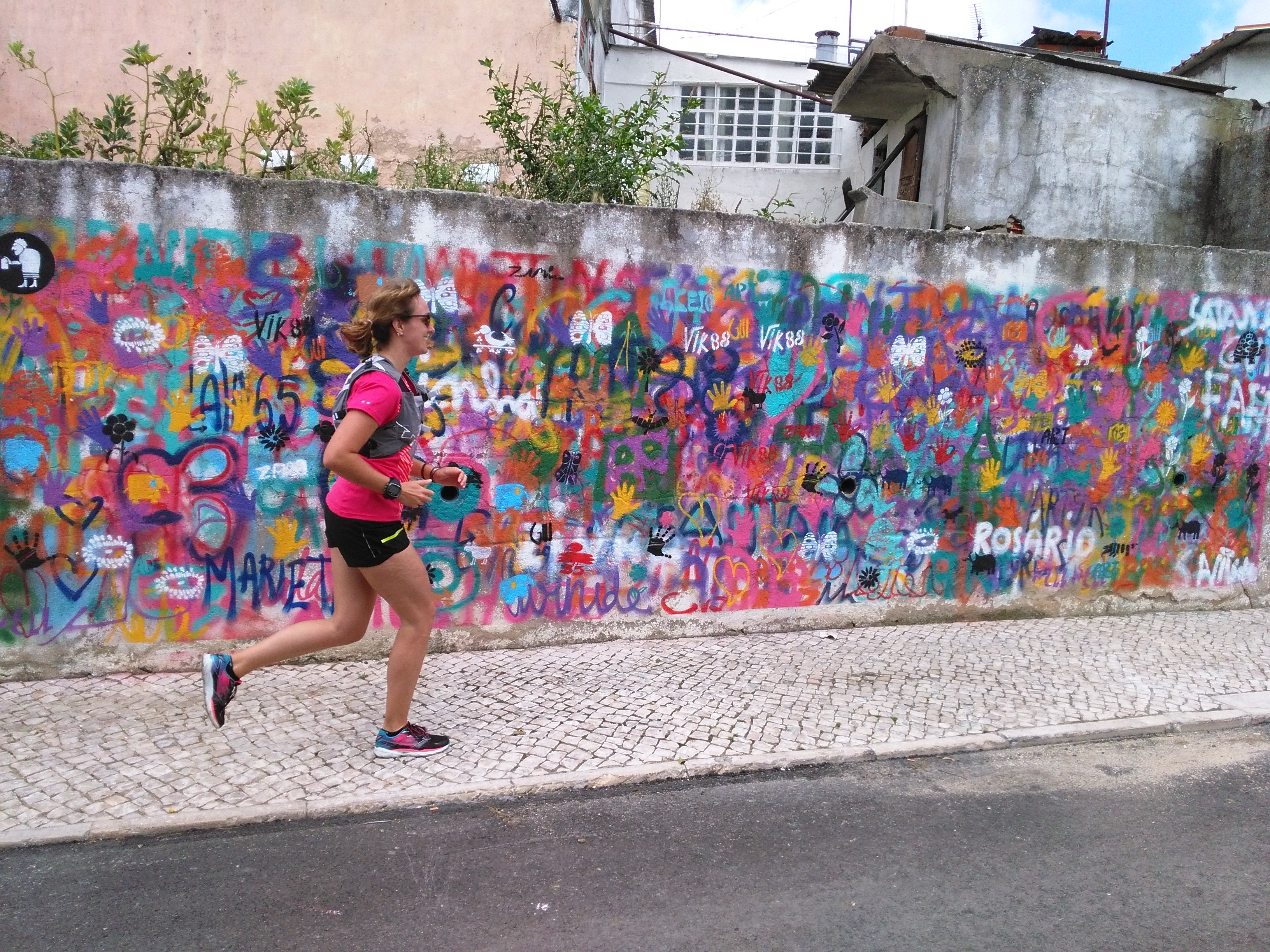 Running in Lisbon - urban art everywhere!